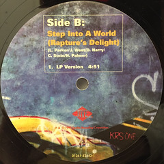KRS ONE:STEP INTO A WORLD(RAPTURE'S DELIGHT)(LABEL SIDE-B)