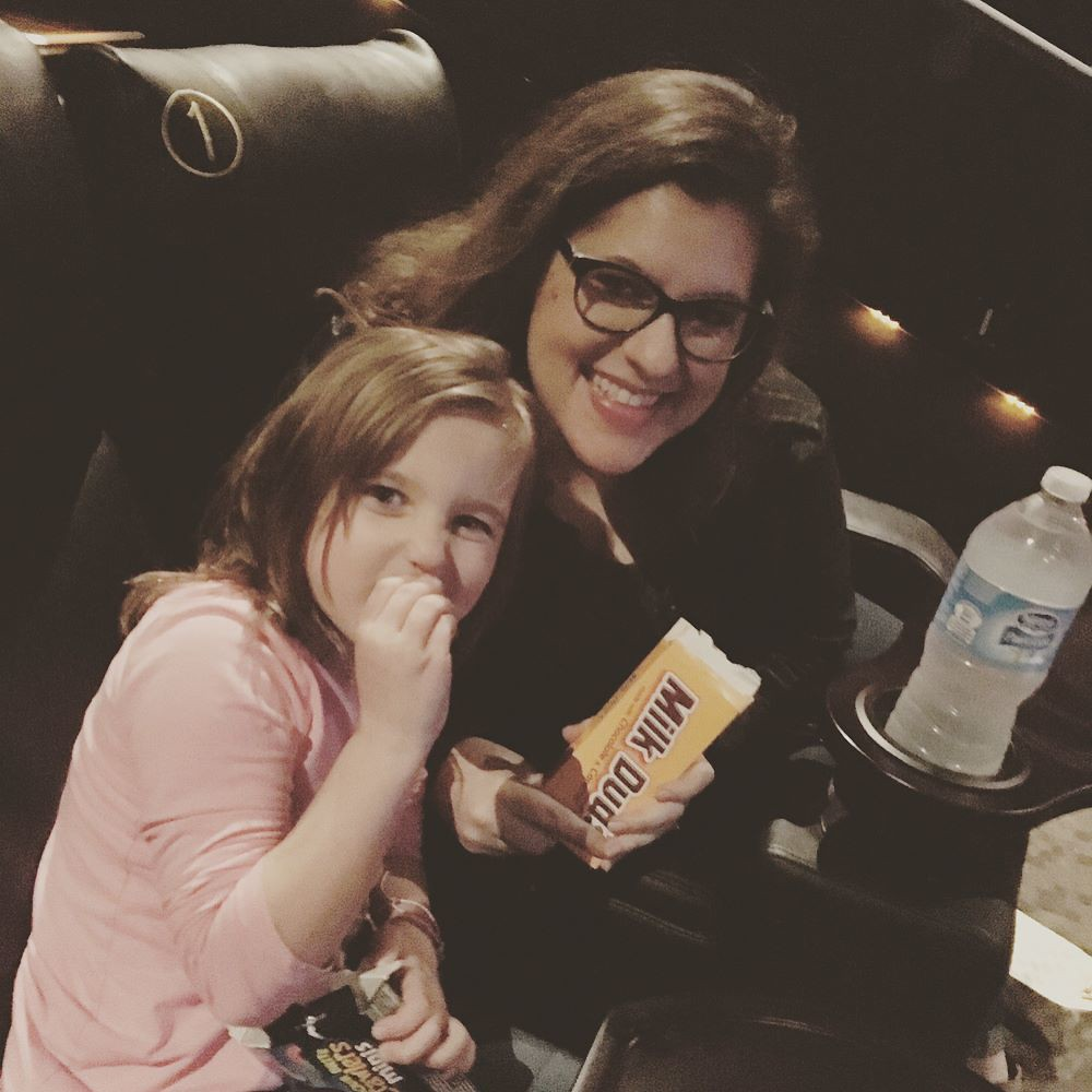 Friday night at the movies with the hubby and niecey-poo seeing Beauty & the Beast!