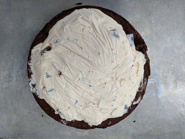 Black and White Baked Alaska (before meringue)