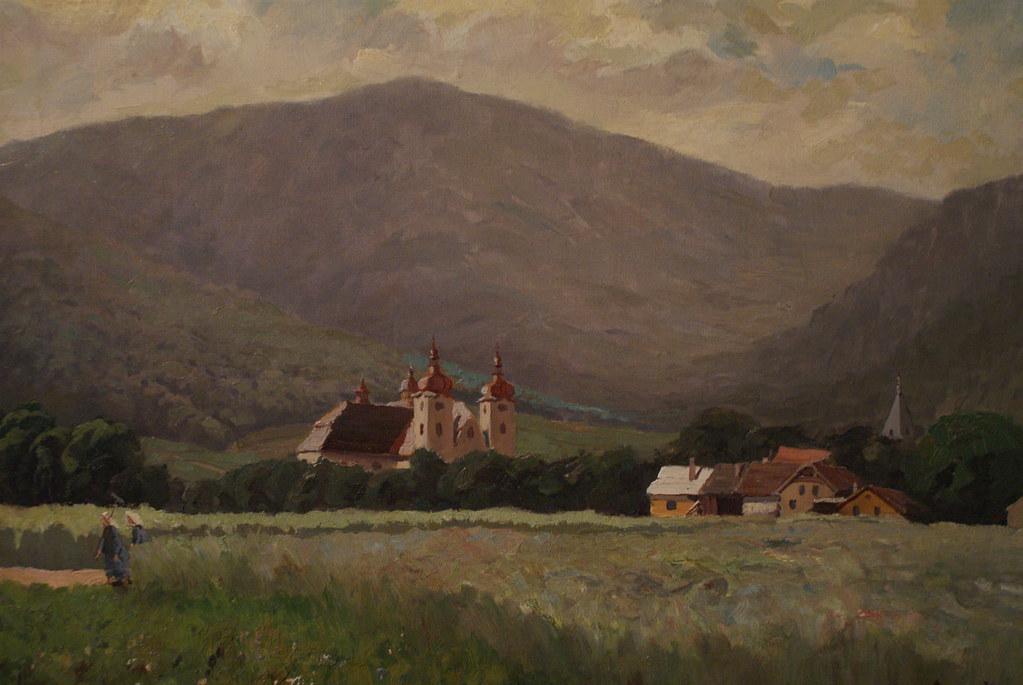 Paul Aus : Vue sur le Hejnice et sur les monts Izerskie (1908)