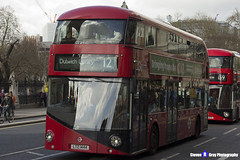 Wrightbus NRM NBFL - LTZ 1444 - LT444 - Dulwich Library 12 - Go Ahead London - London 2017 - Steven Gray - IMG_8560