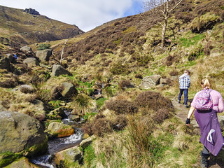 Heading up Crowden Clough