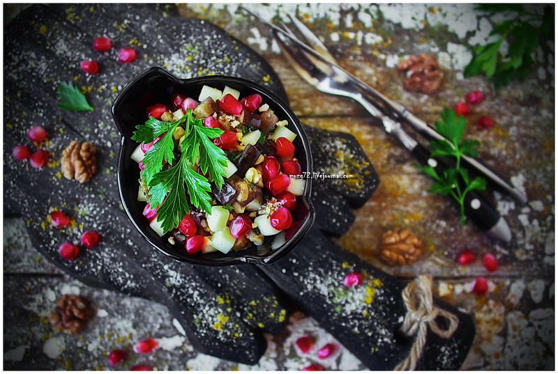 ...Georgian salad with eggplants and walnuts