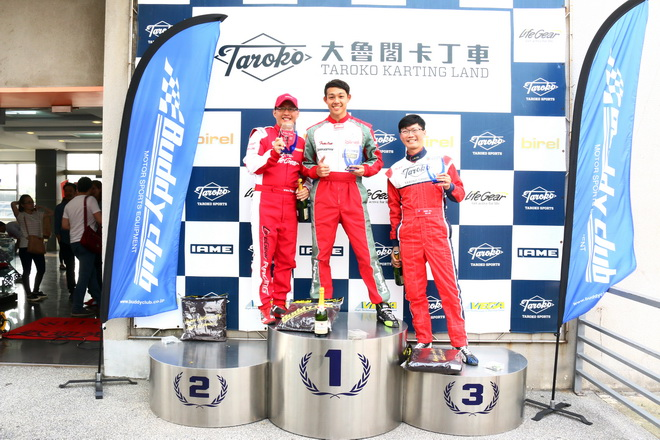 Yamaha SL卡丁車錦標賽首站賽事落幕 ,前三名選手分別為蕭奕丞、黃文良與吳漢崑。