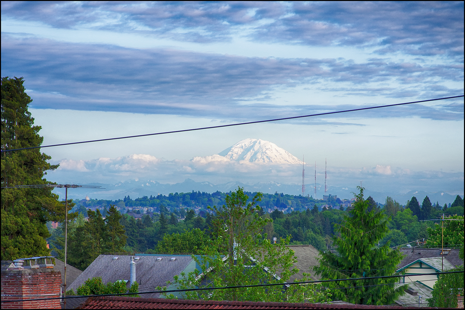 View of Mt. Rainer - 80+ plus Miles as the crow flies