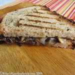 mushroom sandwich, toasted