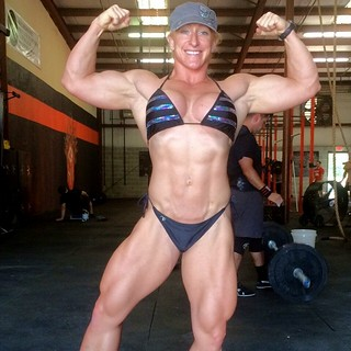 The Big Mary Cain 5wks out today #BuildHerBeast #LaBestiaH