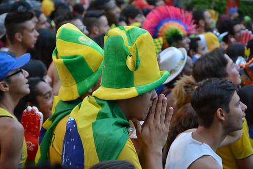 Brazil fans watch World Cup quarterfinal | by Ben Tavener
