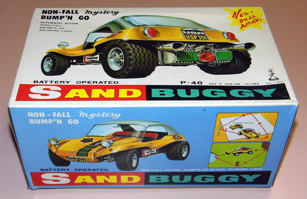 Vintage Sand Buggy (aka Dune Buggy) Toy Car By Taiyo, Batt ...