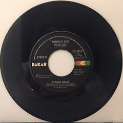 TYRON DAVIS:WITHOUT YOU IN MY LIFE(RECORD SIDE-A)