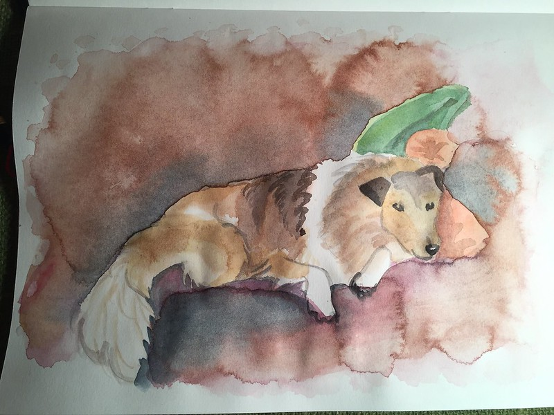 my first aquarel, playing with the medium. Schmincke Horadam water colours.