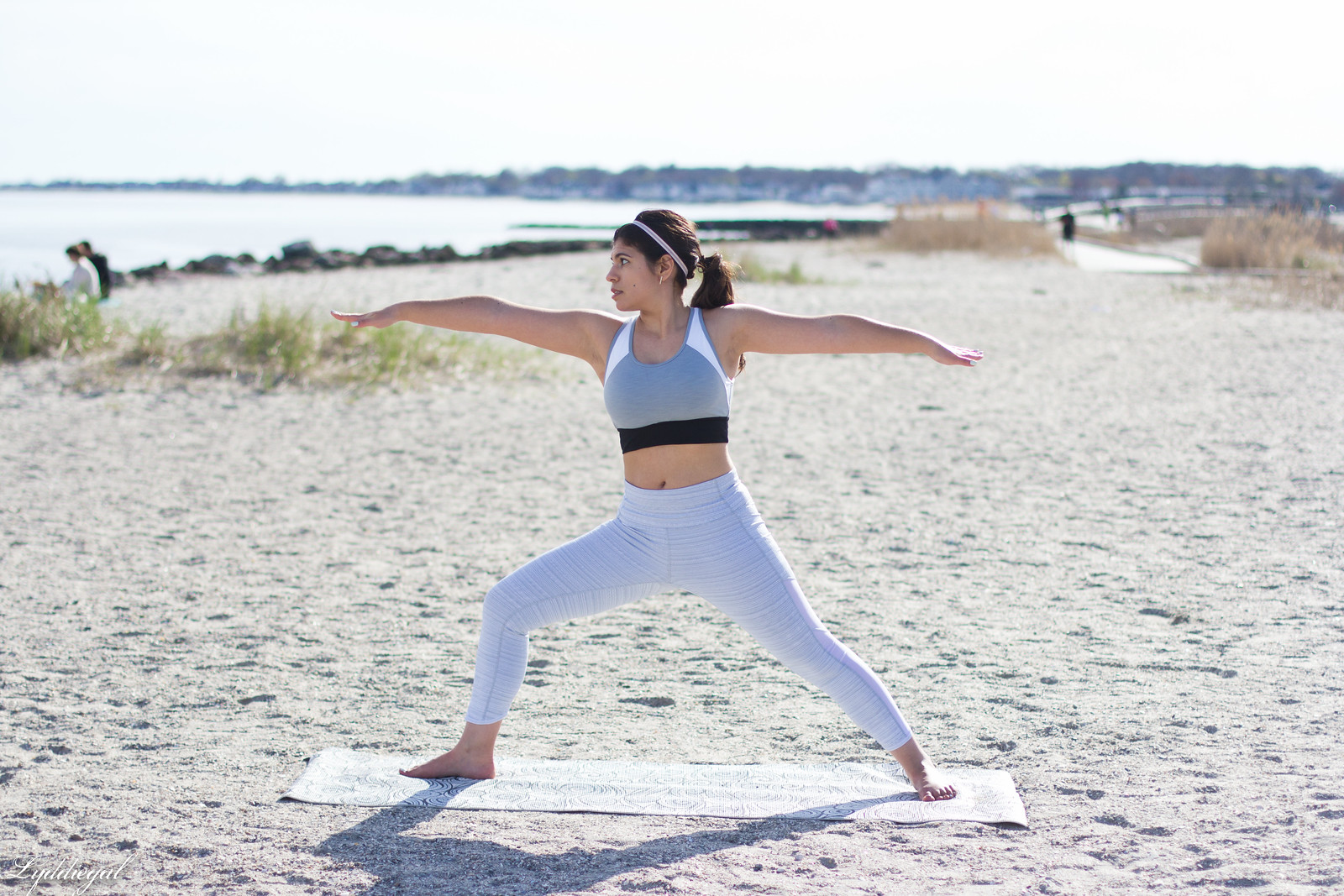 working out with Athleta in Chaturanga capris and blush linen tee-24.jpg