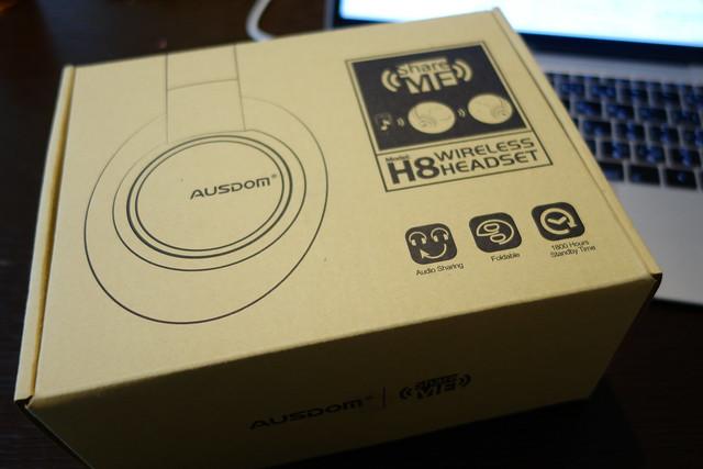 Ausdom Bluetooth 4.1 密閉型 ワイヤレス ヘッドホン 高音質 折りたたみ式 ShareMe機能 ヘッドフォン 無線 有線 両用 日本技適認証済 (H8 ブラック)