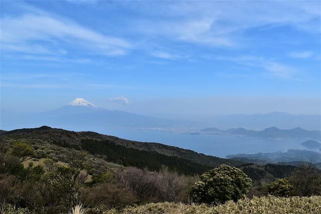 金冠山からの富士山と駿河湾