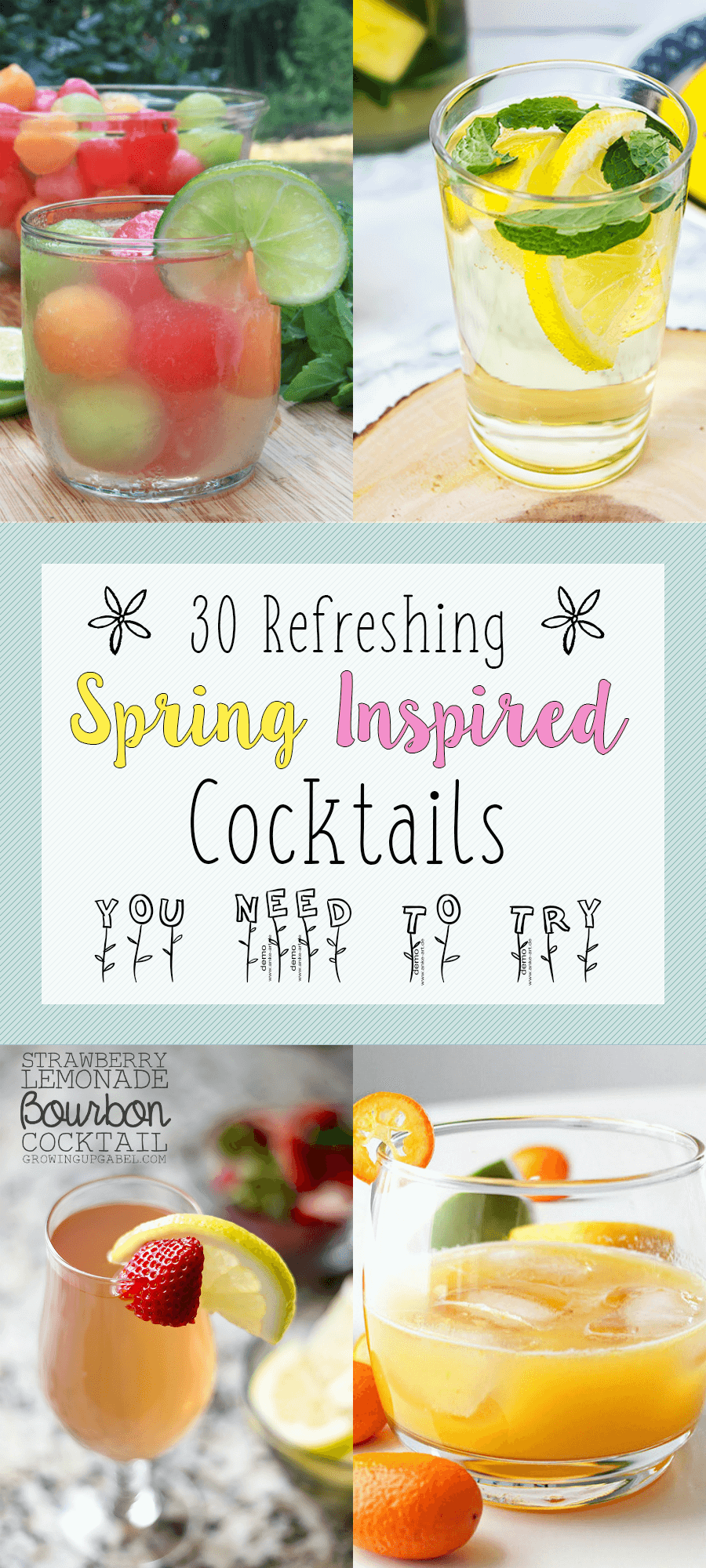 30 Refreshing Spring Inspired Cocktails You Need to Try