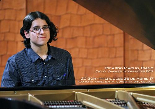 RICARDO MACHO, PIANO - CICLO JÓVENES INTÉRPRETES DEL CONSERVATORIO DE LEÓN 2017