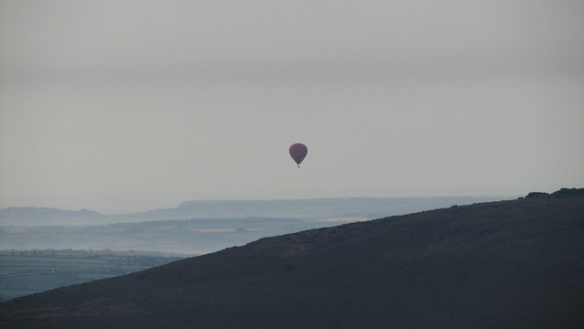 Hot Air Balloon behind Ugborough Beacon