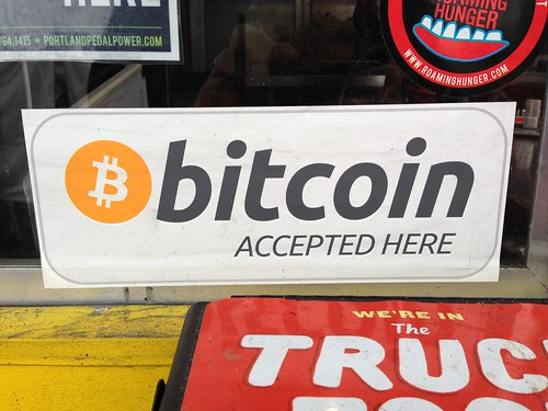 bitcoin accepted here | by Francis Storr