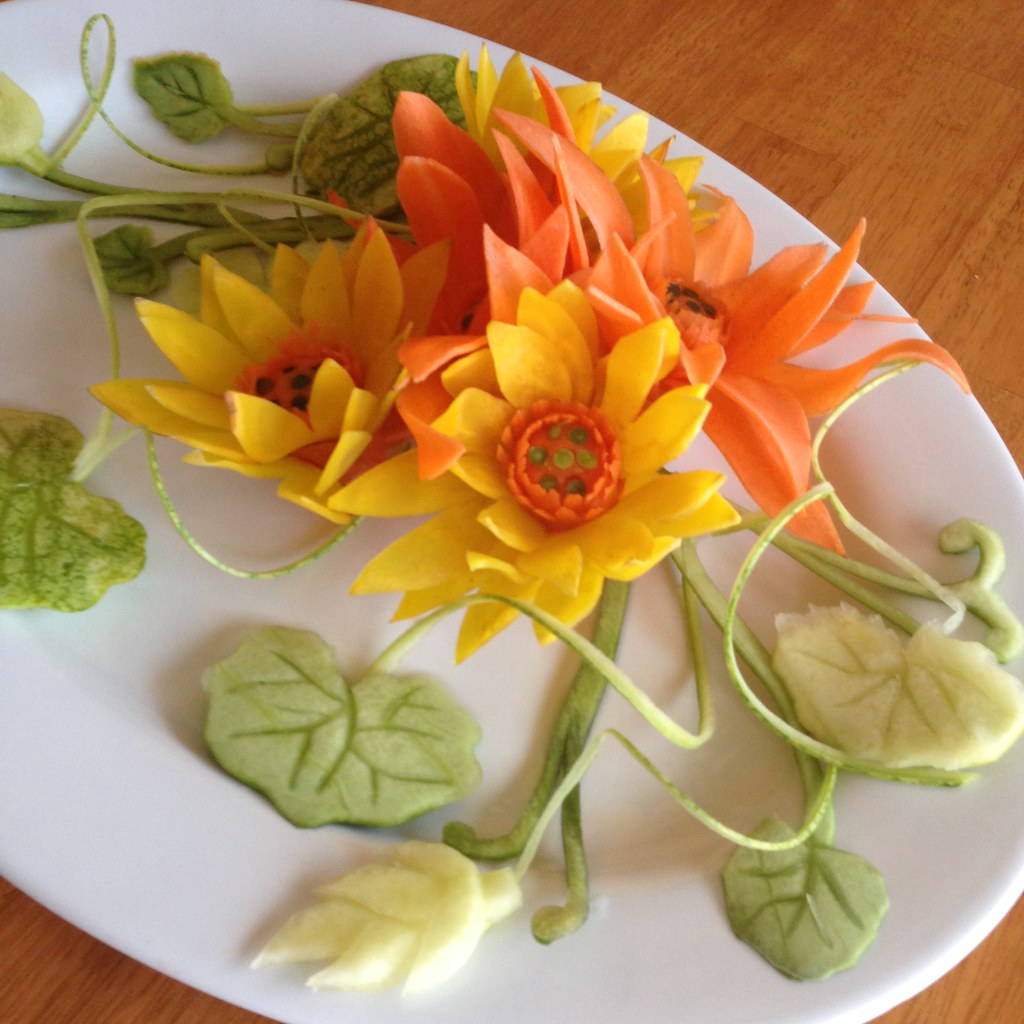 fruit and vegetable plate garnish and centerpiece wtimm9 flickr