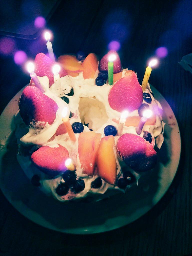 Magical Whipped Cream Fruit Birthday Cake