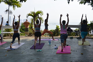 Yoga atop Cerro Ancon | by XA Travels