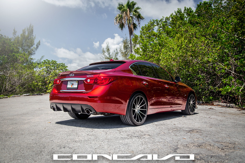 Black And Red Rims >> Infiniti Q50 on CW-12 Matte Black Machined Face   www.concav…   Flickr