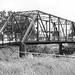 Boggy Creek Bridge, Spoetzl Brewery, Shiner, Texas 1406281208bw