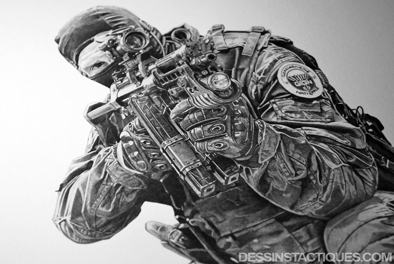 Dessinstactiques dessin gign fi hk mp5 a5 illustration flickr - Dessin de gendarme a imprimer ...