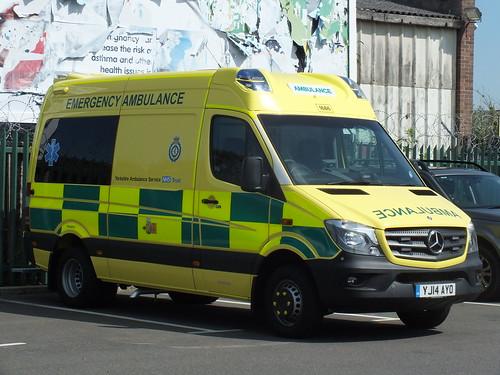 Yorkshire ambulance service brand new mercedes sprinter em for Mercedes benz of valencia general manager