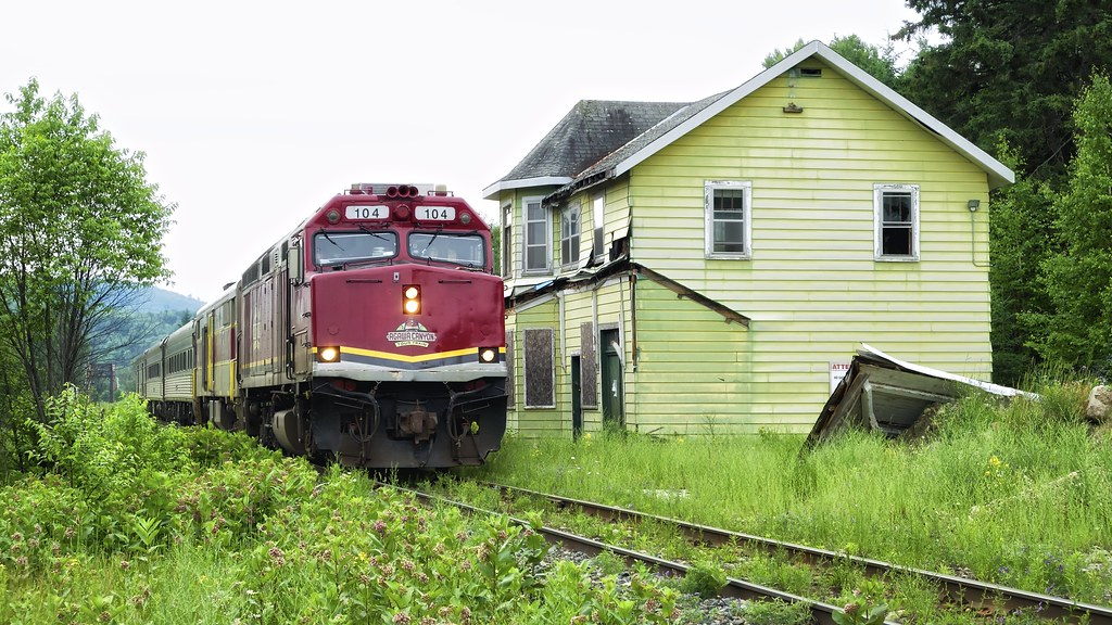 Abandoned Algoma Central Railway Station Searchmont Onta