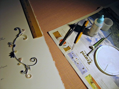 Final Gluing of Quilled Ketubah