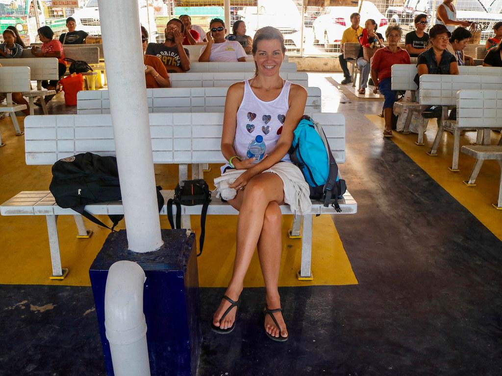 Barco a la isla de Bantayan