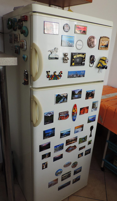Souvenirs: our fridge magnet collection