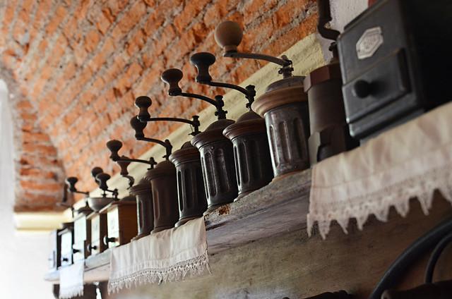 Coffee grinders, Soriso, Italy