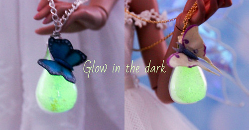 OOAK Butterfly glass bags glow-in-the-dark | by AnnaZu