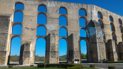 On the road from Evora, Portugal to Merida, Spain