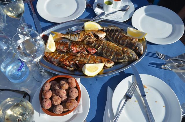 Fish parrillada, Cofradia de Pescadores, Puerto de la Cruz, Tenerife