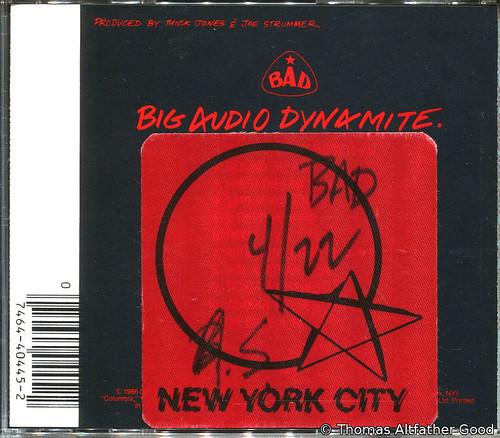 B.A.D. Backstage Pass - 1987