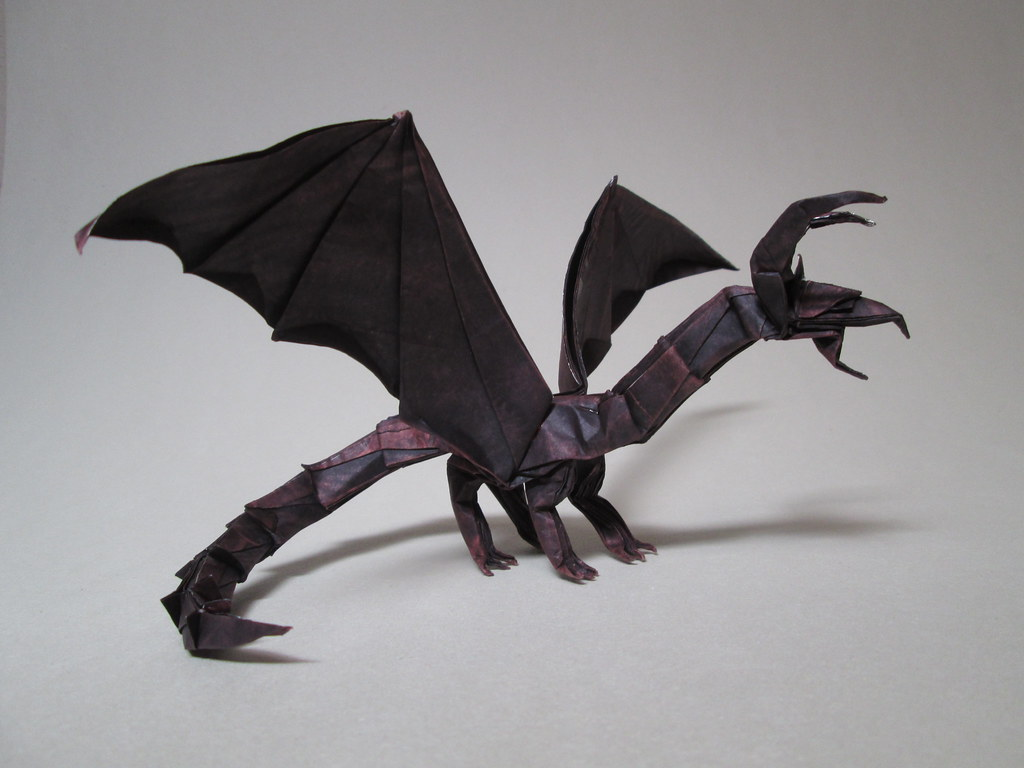 Origami Darkness Dragon Fold Instruction Pictures to Pin ... - photo#42
