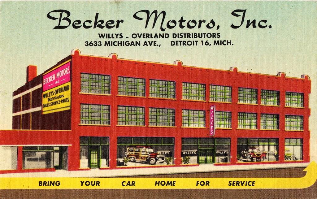 Becker Motors Inc Willys Jeep Detroit Michigan 1950