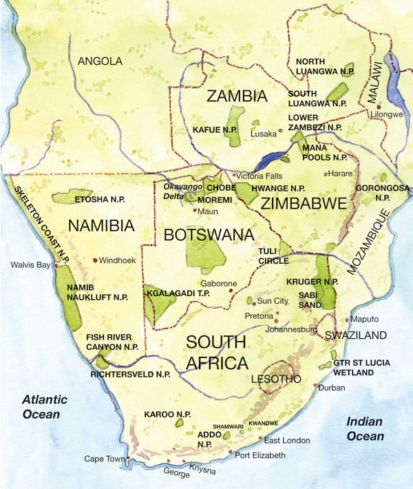 Map of Southern Africa Undated South Africas neighboring Flickr