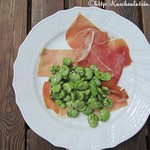 Broad beans and Spanish ham