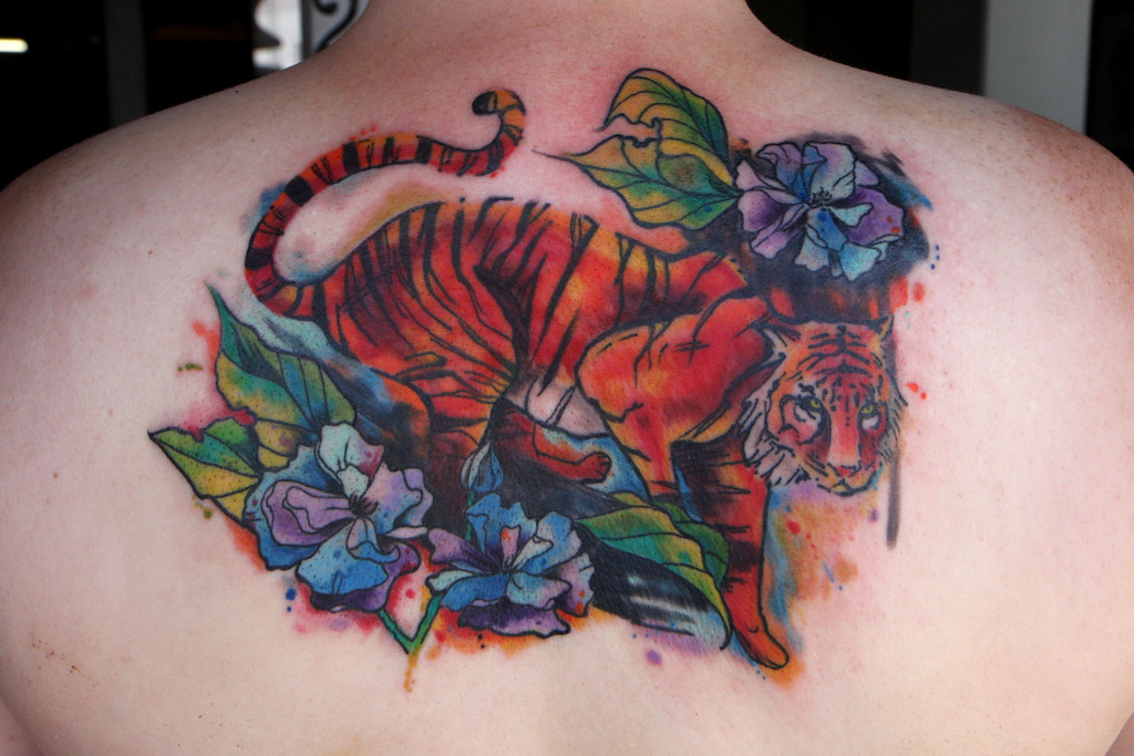 Tiger Watercolor Tattoo Watercolor Tiger Tattoo
