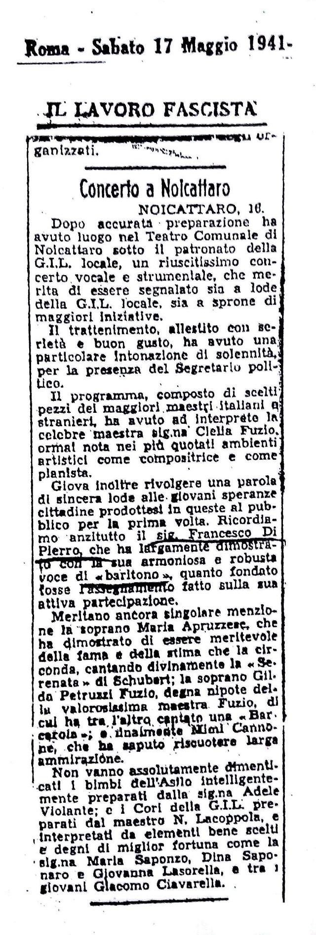 Noicattaro. Programma teatro 1941 intero2