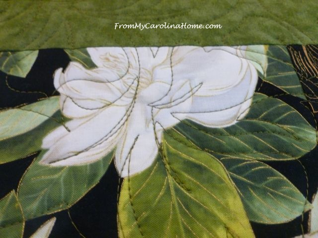Magnolia Quilt at From My Carolina Home