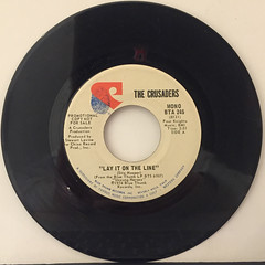 THE CRUSADERS:LAY IT ON THE LINE(RECORD SIDE-A)