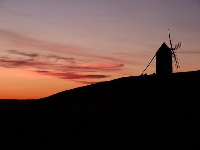 Atardecer en Belmonte (La Mancha del Quijote)