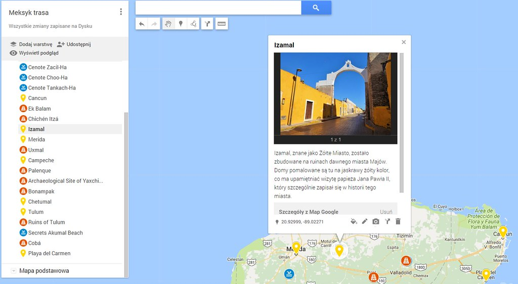 Mapa Google ikonki