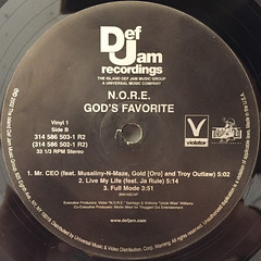 N.O.R.E.:GOD'S FAVORITE(LABEL SIDE-B)