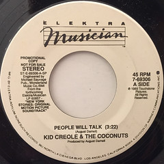 KID CLEOLE & THE COCONUTS:PEOPLE WILL TALK(LABEL SIDE-A)